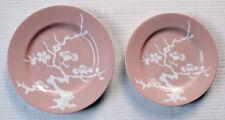 "FITZ & FLOYD Prunier De Chine PEACH NEGATIVE plates 1976 7 1/2"" 6 1/2"""