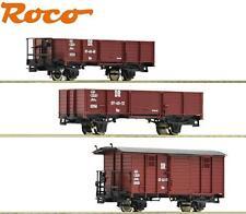 Roco H0e 31031-2 Schmalspur Güterwagen-Set der DR 3-teilig - NEU