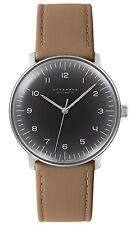 JUNGHANS Max Bill Automatic Anthracite-Grey Tan Leather Dial Numerals  027/3401