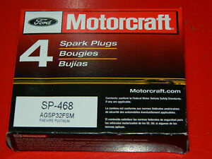 (4) GENUINE MOTORCRAFT SP-468 PLATINUM SPARK PLUGS FOR MIATA ECLIPSE LANCER NX