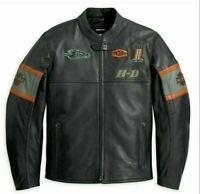 Harley Davidson Men's Screaming Eagle Motorbike Cowhide Leather Jacket US-XL
