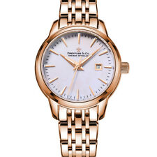 Dreyfuss DLB00129/41 Women's 1890 Rose Gold Bracelet Watch Swiss Made 7 Link New