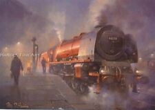 More details for 46228 duchess of rutland lms br philip d. hawkins train painting art print