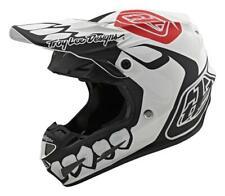 TLD Motocross Helmet SE4 Composite Skully White/Black LTD M  Adult MX Troy Lee