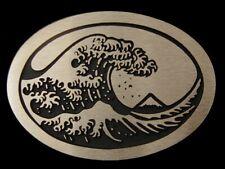 Hokusai's Great Wave Rainbow Metals Solid Bronze Belt Buckle Brand New