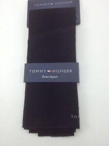 Tommy Hilfiger Pocket Square - Solid Black - COTTON - $32 MSRP