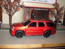 RARE CUSTOM GMC Yukon Denali Toy SUV 1:24 RED with black wheels FREE SHIPPING