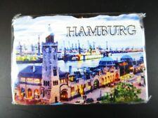 Hamburg Hafen Germany Poly Magnet Gipsoptik Souvenir,Neu