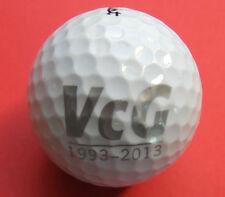 Pelota de golf con logo-VCG 1993 - 2013-logo de golf ball logotipo pelotas recuerdo regalo