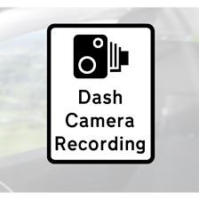 Dash Cam Recording Sticker - insurance fraud camera warning claims car van lorry