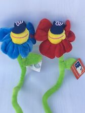 NWT Washington Nationals Red & Blue Flower Fan Baseball Hat Collectible MLB 2005