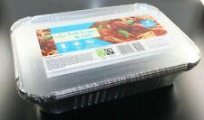 MORRISON FOIL TRAYS & LIDS X 4 MEDIUM SIZE OVEN SAFE FREEZE SAFE FOR ALL FOODS