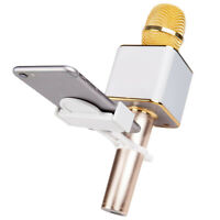 Mini Karaoke Microphone Mount Mic Phone Holder Stand Kit for iPhone Samsung
