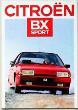 Dépliant POSTER CITROEN BX SPORT - Modèle 1987