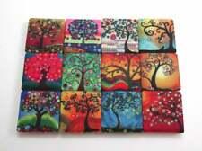 Ceramic Mosaic Tiles - 12 Piece Mixed Set - Funky Tree Designs Mosaic Tiles