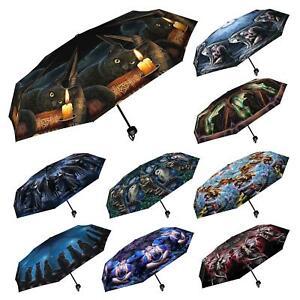 Nemesis Now Umbrella 98cm Wide Folding Compact Anne Stokes Lisa Parker Gothic
