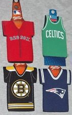 Boston Red Sox Celtics Patriots Bruins Bottle Holder Coozie Set Jersey Type
