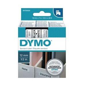 Original Dymo 45013 S0720530 D1 schwarz auf weiß 12mm x 7m OVP