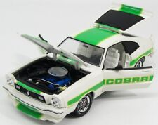FORD MUSTANG II COBRA WHITE GREEN STRIPES 1976 GREENLIGHT 12895 1/18 WEISS BLANC