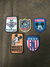 Walt Disney World Lot of 5 Mickey Mouse Vintage Sew on Cartoons Patches NEW