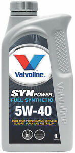 Valvoline Full Synthetic SynPower Engine Oil 5W-40 1L 1155.01 fits Audi Fox 1...