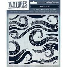 Wind - Crafter's Crafters Companion Textures Elements 8 * 8 Embossing Folder