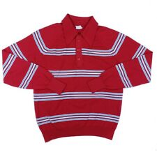 Sovereign USA Big 1X Square Bottom USA Made Long Sleeve Red Stripe Shirt