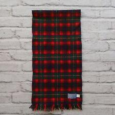 Pendleton 100% Virgin Wool McPherson Red Tartan Scarf USA