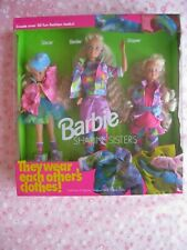 1991 Barbie Sharin' Sisters Gift Set Barbie-Skipper-Stacie #5716 Sealed