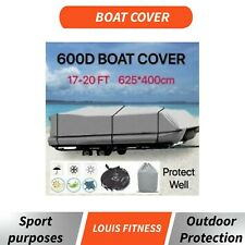 Waterproof 600D Heavy Large Marine Grade 17ft-20ft Trailerable Jumbo Boat Cover