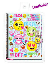 Emoji Diary with Lock Lockable Children Teen Journal Note Book NEW