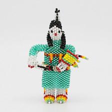 Zuni Beaded Shawl Dancer by Todd Poncho Native American Beadwork