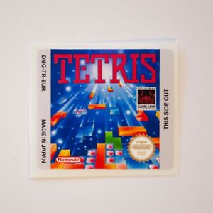 Tetris EUR Replacement / Reproduction Sticker / Label for Game Boy