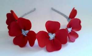 Sweethearts Red Leather & Silver Crown, Headband, Fascinator