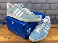 ADIDAS OG MENS UK 6.5 EU 40 GAZELLE SUEDE BLUE WHITE TRAINERS RRP £70 M