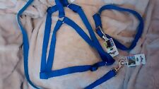 Canac Large Blue Dog Harness Large Lead & Double Collar All 3 £14.99 Delivered