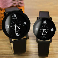 2 MATCHING BLACK WATCHES Yazole Couple Women Men Lovers Xmas Gifts For Him Her