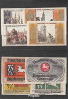 Deutsches Reich Notgeld: 155.2 Vier Notgeldscheine der Stadt Braunschweig bankfr