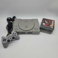Playstation 1 PS1 Console Original Bundle Lot w/ Controller + 6 Games SCPH-7501