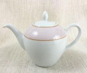 Bernardaud Limoges Porcellana Teiera Tè Per Uno Bachelor Colazione Pentola Rosa