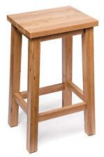 Oak Kitchen Breakfast Bar Stools | Solid Wood Stool | Dining Seat