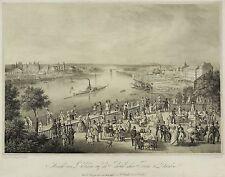 DRESDEN - Aussicht vom Belvedere - Carl Wilhelm Arldt - Lithografie um 1850