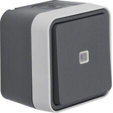 Berker Kontroll- /Wechselschalter lichtgrau Aufputz IP 55 Serie W1 Typ 31763505