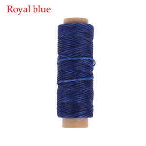 1mm Tool Handicraft Hand Stitching Flat Waxed Thread Cord Sewing Line Leather