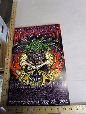 MB/ 2000 Rock Concert Poster Horrorfest Electric Hellfire Club + Jeff Wood LE200