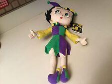 "Rare Betty Boop 2004 Mardi Gras Collection Big 19"" Jester Plush Doll KellyToy"