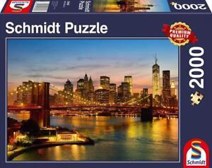 Schmidt Spiele New York Skyline 2000 Teile Puzzle für Erwachsene & Kinder ab 9