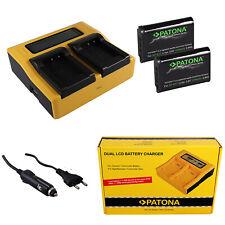 2x Batteria Patona + caricabatteria rapido DUAL LCD per Sony FDR-X3000,HDR-AS10