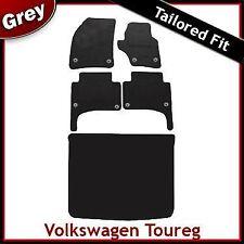 VOLKSWAGEN Touareg montato su misura moquette auto + le stuoie di avvio GRIGIO (2003-2009) Rotondo