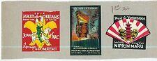 6 1920s  Poster Stamps (Cinderellas) -  Lot 3 Japan, USA + Europe